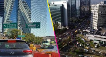 ¿Una mañana difícil? Automovilistas se quedan atorados en Santa Fe por obras en la zona