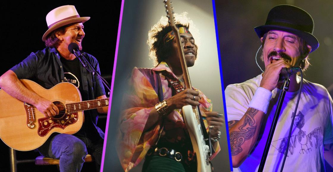 ¡Eddie Vedder y los Red Hot Chilli Peppers se rifaron un gran cover de Hendrix y Prince!