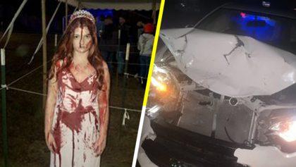 Como cuando chocas tu auto y los paramédicos piensan que estás muerta... por tu disfraz de Halloween