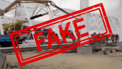 ¿Colapsó una estructura en Santa Lucía? Sedena desmiente video de supuestas obras en el AISL