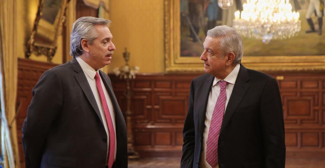 AMLO y Alberto Fernández, presidente de Argentina