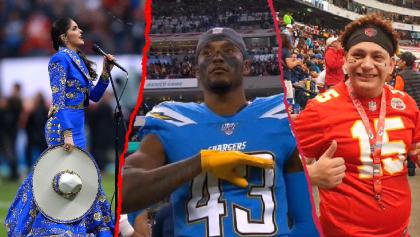 El error de Ana Bárbara en el himno, el gesto de Davis y el falso Mahomes: Lo que no se vio en el Chargers vs Chiefs