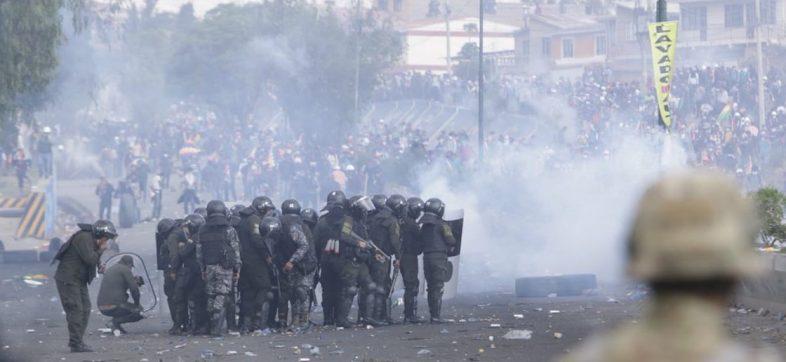 bolivia-represion-violencia-5-muertos-protestas-policia-evo-morales-coca-jeanine