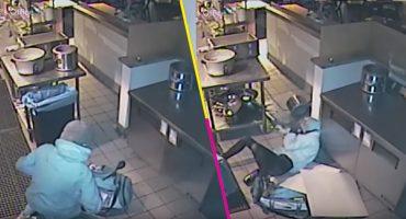 Y en la nota idiota del día: Joven ladrona cae desde el techo en su intento de entrar a robar
