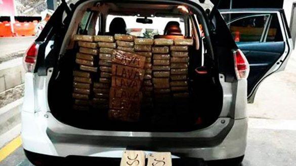 Guardia Nacional detiene a teniente del ejército con 88 paquetes de cocaína en Baja California