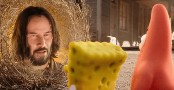 ¿Están listos? Checa a Keanu Reeves en el tráiler de la nueva película de Bob Esponja