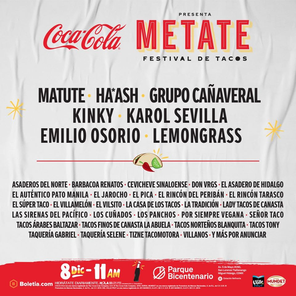coca cola festival metate tacos mexico 2019