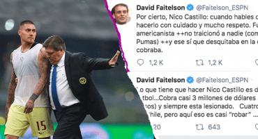 Faitelson le responde a Nico Castillo tirándole con todo a su salario