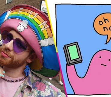 El ilustrador Alex Norris inauguró la primera temporada de lo nuevo de Pictoline: Internet Walls