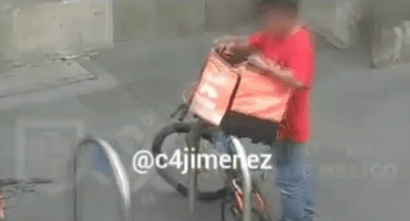 ¡Qué vivo! Se disfrazó de repartidor para poder robar bicicletas