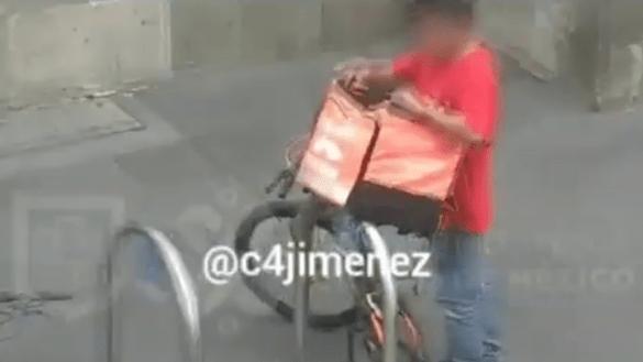 disfrazo-disfraz-repartidor-comida-rappi-mochila-robar-bicicletas