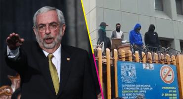 Enrique Graue rinde protesta como rector de la UNAM; encapuchados toman la Prepa 8