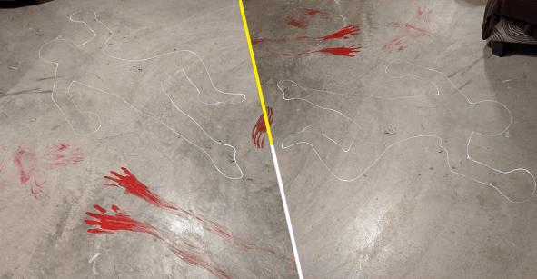 Malos caseros nivel: Esta mujer dibujó una escena del crimen para asustar a sus nuevos inquilinos