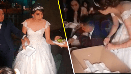 Se merecen un aplauso: Estos novios repartieron su banquete de bodas en un hospital infantil
