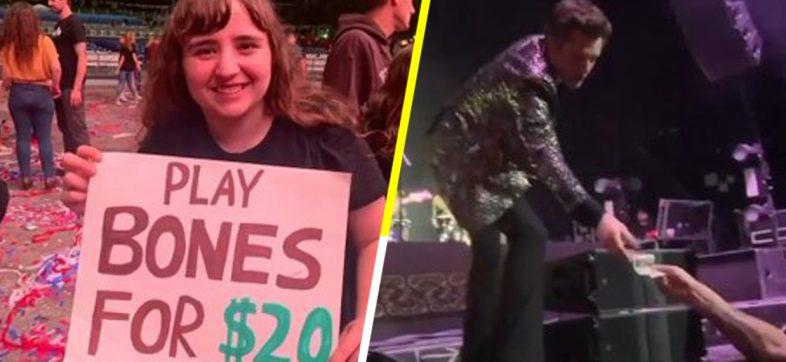 """¡Qué ofertón! Fan ofrece a Brandon Flowers 20 dólares por tocar """"Bones"""" en concierto de The Killers"""