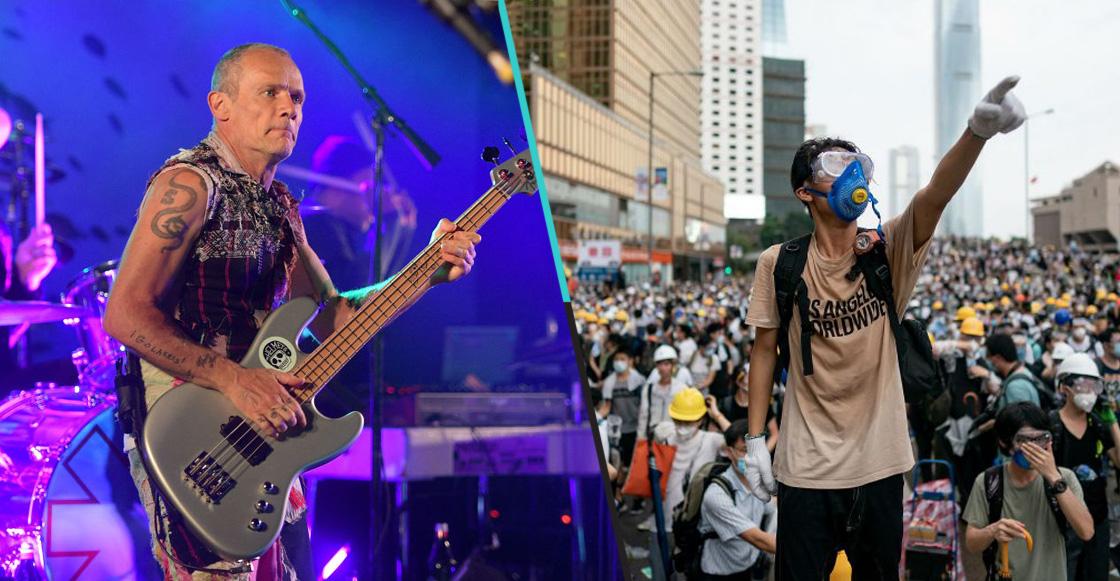 Flea, bajista de Red Hot Chili Peppers, quiere escuchar al pueblo de Chile, Hong Kong e Irán