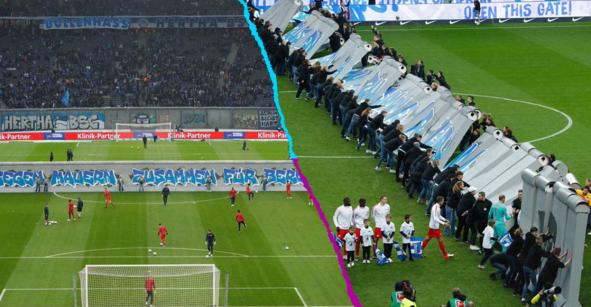En imágenes: Hertha recrea el Muro de Berlín a 30 años de su caída