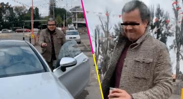 Captan a restaurantero de Jalisco agrediendo a una mujer por un choque