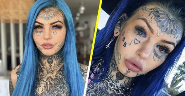 ¿Pero a quién se le ocurre? Influencer se tatúa los ojos de color azul y se queda ciega