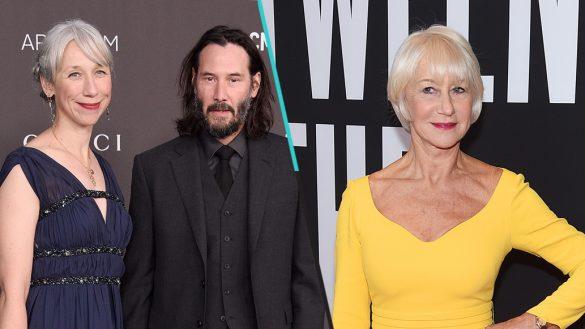 'Gracias, joven': Internet confunde a la novia de Keanu Reeves con Helen Mirren