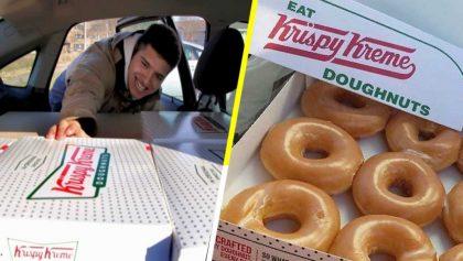 Krispy Kreme regaló 500 cajas de donas a estudiante que revendía sus rosquillas
