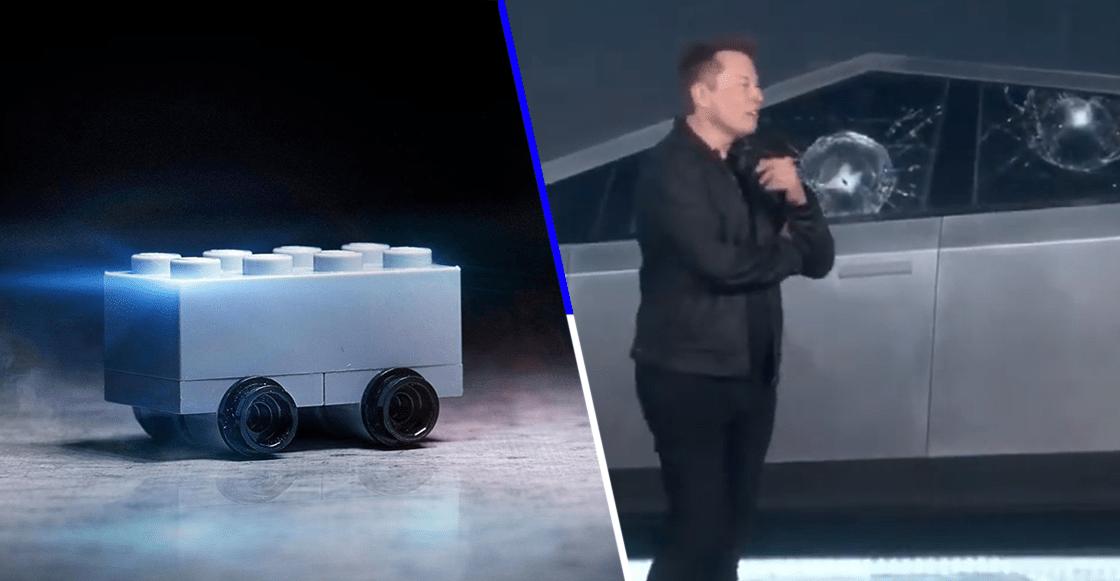 Ya ni ellos perdonaron: LEGO trollea a Tesla por el fail de la camioneta Cybertruck