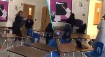 Ya no hay respeto: Alumno y maestra se agarran a golpes durante una clase