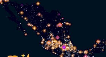 Este mapa muestra todos los puestos de tacos que hay en México y es simplemente hermoso