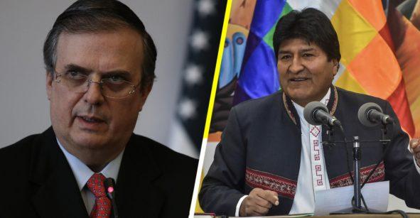 ¿Marcelo Ebrard le ofreció asilo político a Evo Morales en México?