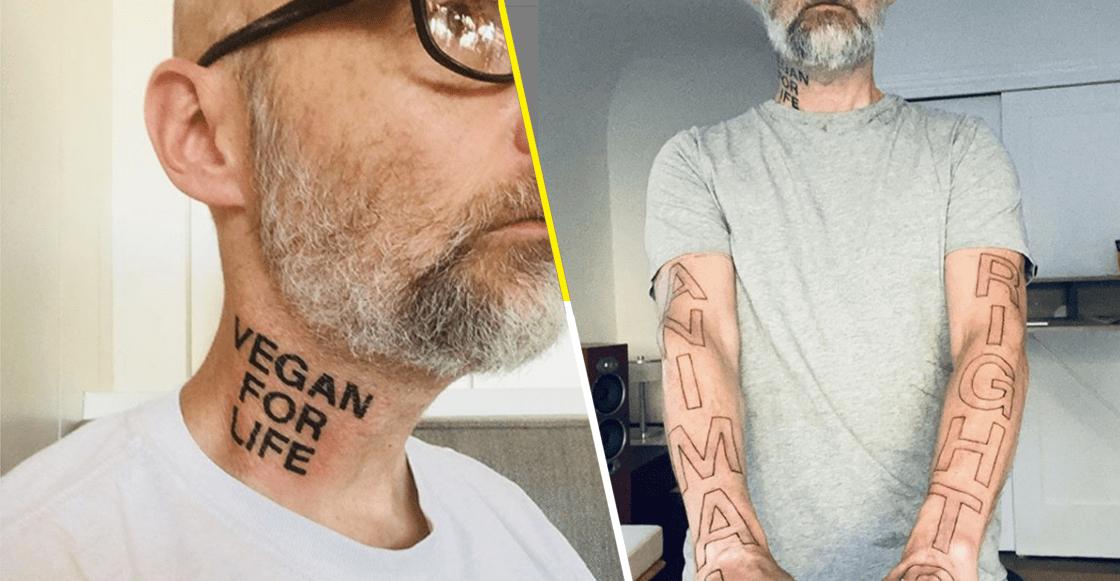 Ni Morrissey se atrevió a tanto: Moby se tatuó unas letritas para demostrar su veganismo