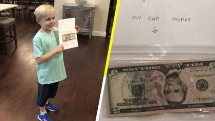 Sí estamos llorando: Niño le regala su dinero de cumpleaños a su maestra para darle un