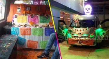 Historias de Tlaxcala presentan: Hacen una ofrenda de Día de Muertos en la combi