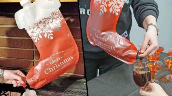 La bota navideña con la que podrás servir hasta 2 litros de vino