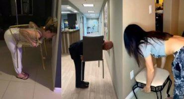 #ChairChallenge: El nuevo desafío viral que está poniendo a internet de cabeza (literal)