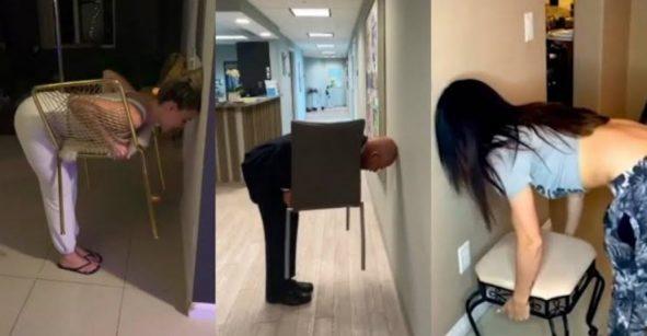 #ChairChallenge el nuevo desafío viral que está poniendo a Internet de cabeza
