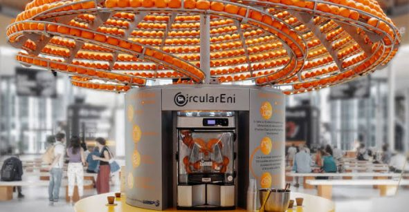 Feel the Peel: El exprimidor de naranjas que aprovecha las cáscaras para imprimir vasos en 3D