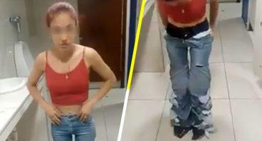 Gandallismo nivel: Mujer se pone ocho pares de pantalones encima para poder robárselos