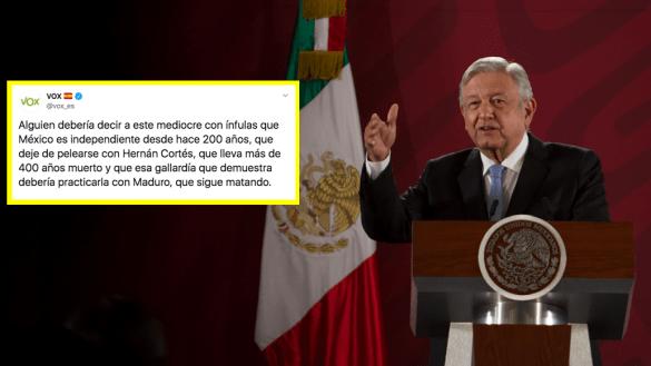 partido-politico-espana-llama-amlo-mediocre-infulas-hernan-cortes