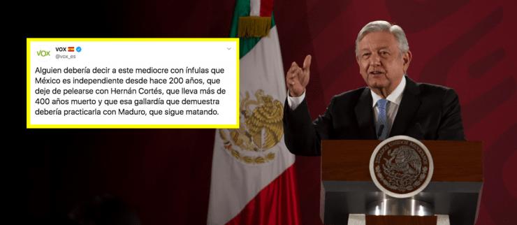 Partido político de España llama a AMLO