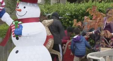 Espérense tantito: Piden a familia que quiten sus adornos navideños porque los pusieron muy pronto