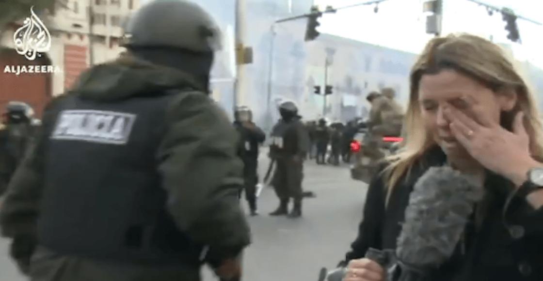 reportera-Al-Jazeera-policía-Bolivia