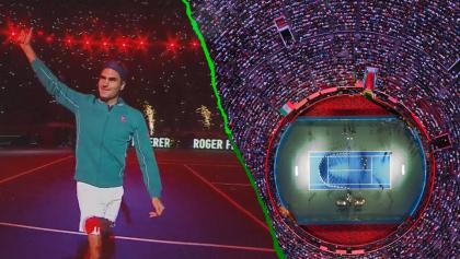 Así se puso la fiesta que armaron Federer y Zverev en la Plaza México