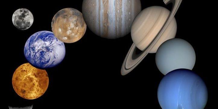 Animación muestra la rotación de los planetas del sistema solar