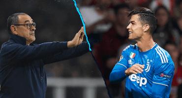 Sarri explica el cambio y molestia de Cristiano en el juego contra el Lokomotiv