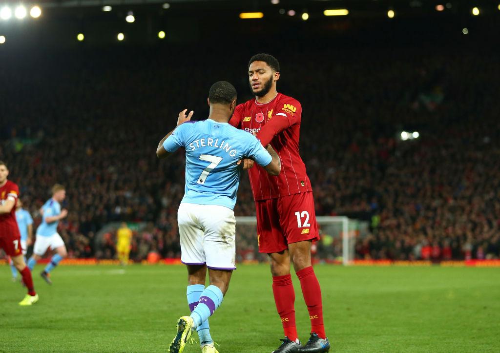 Inglaterra 'cortó' a Sterling por altercado con Joe Gómez en el Liverpool vs City