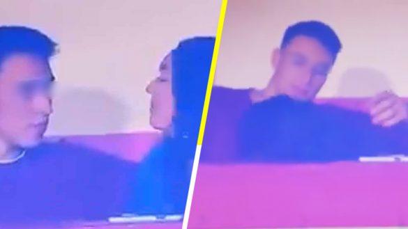 ¡El VAR, arbitro! Captan a chica dándole 'amor' a su pareja durante un partido de fútbol