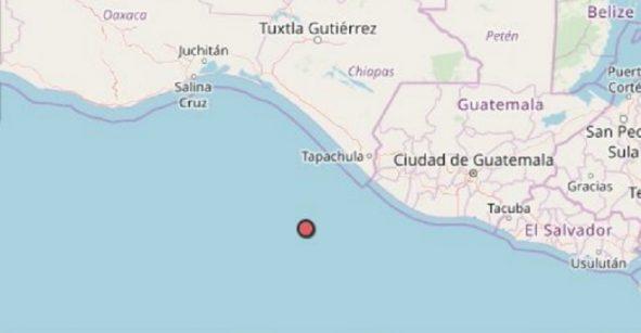 Se registró sismo de 6.4 en costa de Chiapas; no se reportan afectaciones
