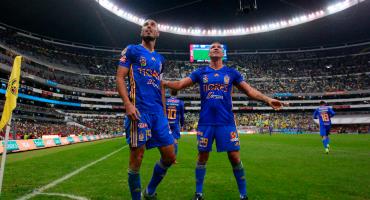 Tigres le da vuelta al América en el Azteca y pone medio pie en Semifinales