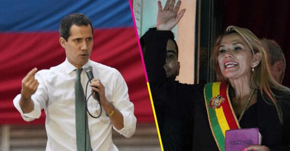 Y en un universo paralelo... presidente Guaidó reconoce a Añez como mandataria de Bolivia