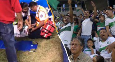 ¡De miedo! Aficionado del Zacatepec cayó desde una de las gradas al campo de juego